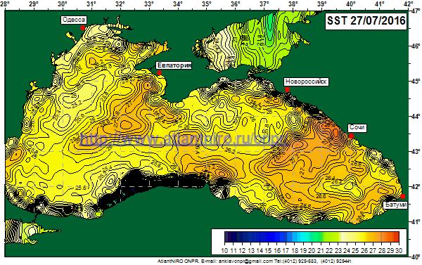 воды в Черном море